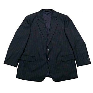 JOS. A. BANK Men's Navy Pinstripe Wool Blazer 46R